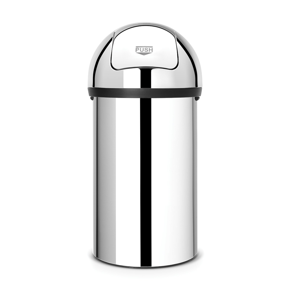 Кош за смет Brabantia Push 60L, Brilliant Steel