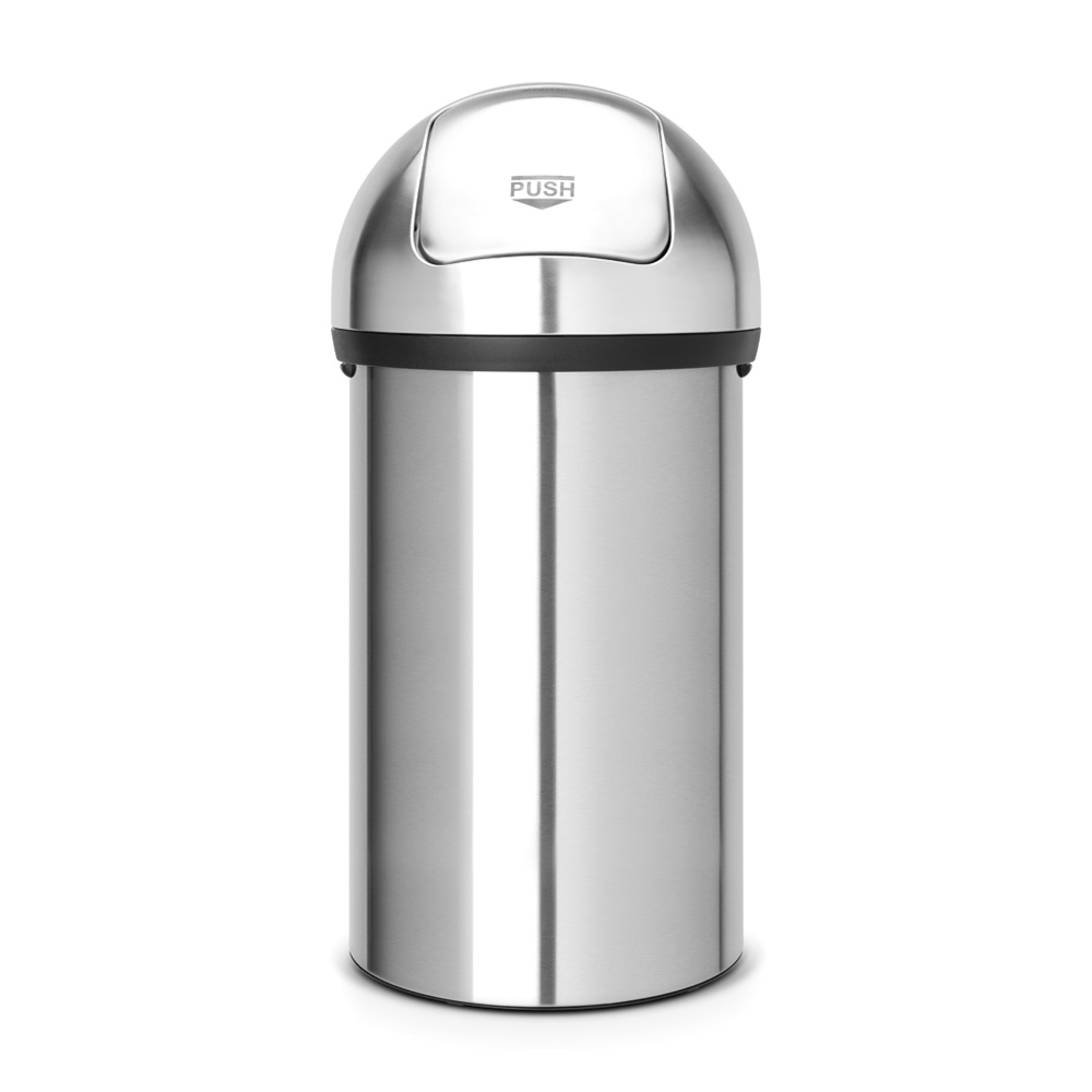 Кош за смет Brabantia Push 60L, Matt Steel