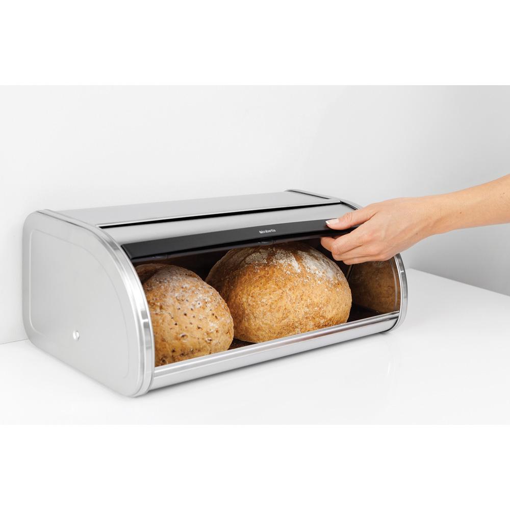 Кутия за хляб Brabantia Roll Top Matt Black(4)