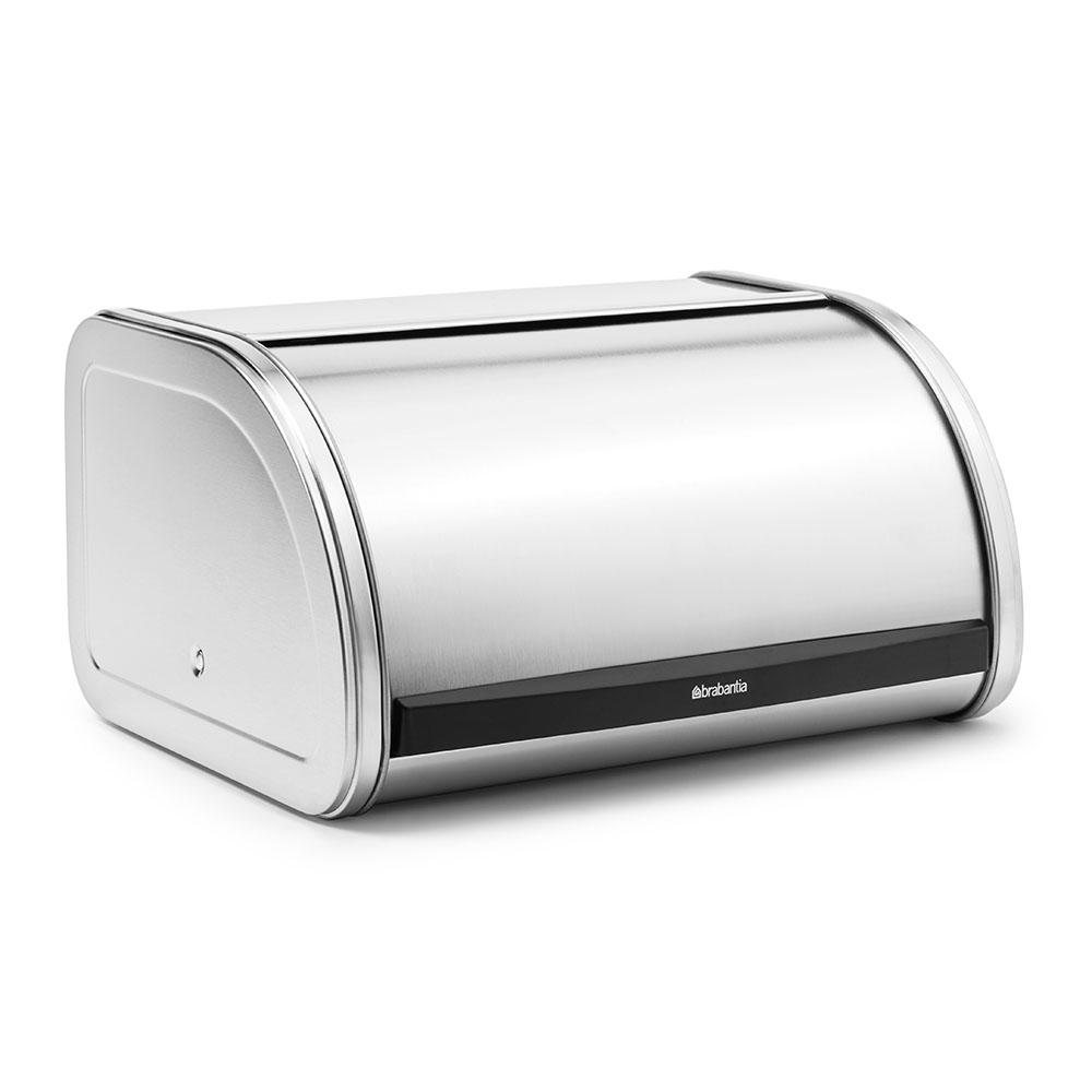 Кутия за хляб Brabantia Roll Top Medium Matt Steel, средна(1)
