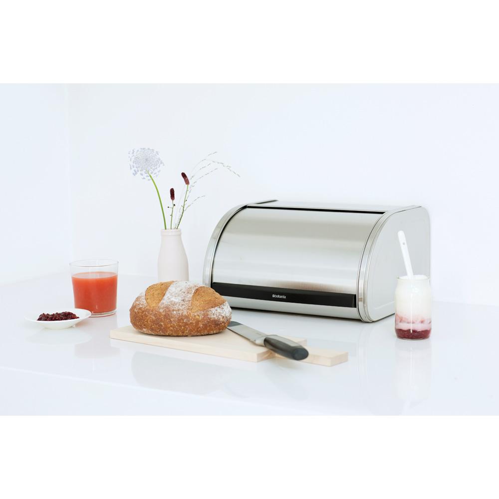 Кутия за хляб Brabantia Roll Top Medium Matt Steel, средна(3)