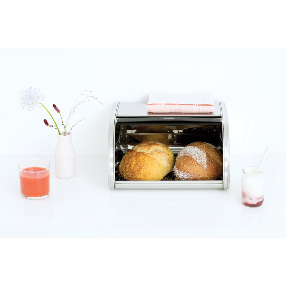 Кутия за хляб Brabantia Roll Top Medium Matt Steel, средна(4)