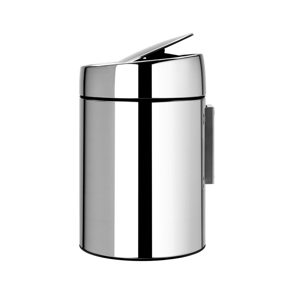 Кош за смет Brabantia Slide 5L, Brilliant Steel, метална кофа(4)