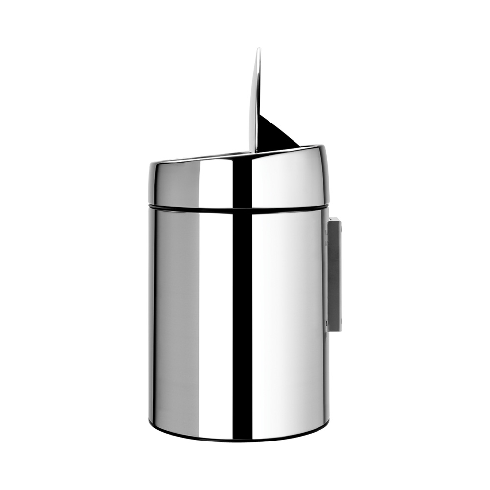 Кош за смет Brabantia Slide 5L, Brilliant Steel, метална кофа(6)