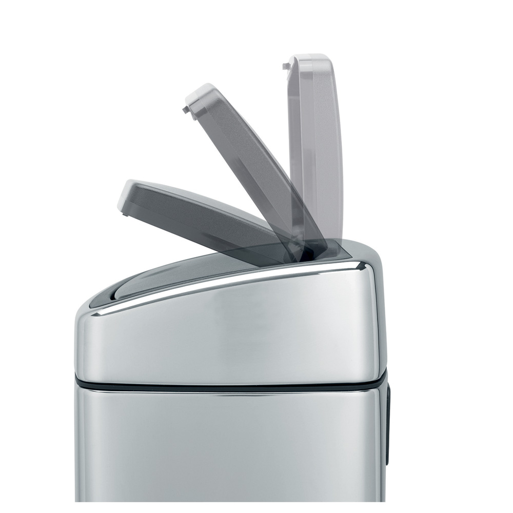 Кош за смет Brabantia Touch Bin 10L, Matt Steel Fingerprint Proof(10)
