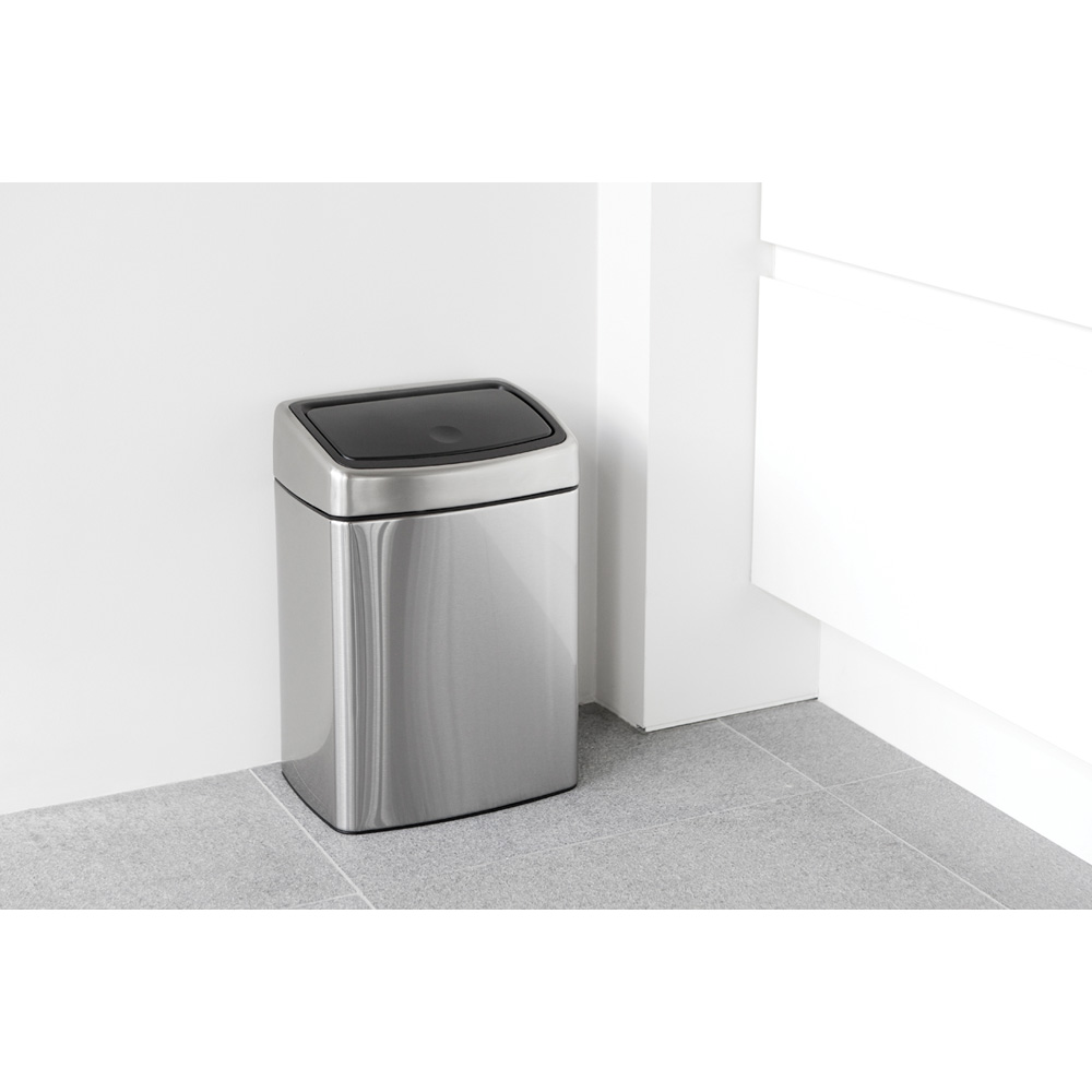 Кош за смет Brabantia Touch Bin 10L, Matt Steel Fingerprint Proof(13)