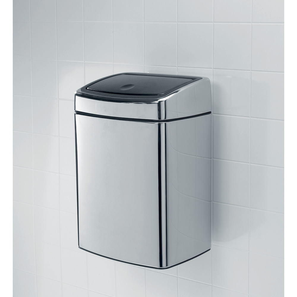 Кош за смет Brabantia Touch Bin 10L, Matt Steel Fingerprint Proof(7)