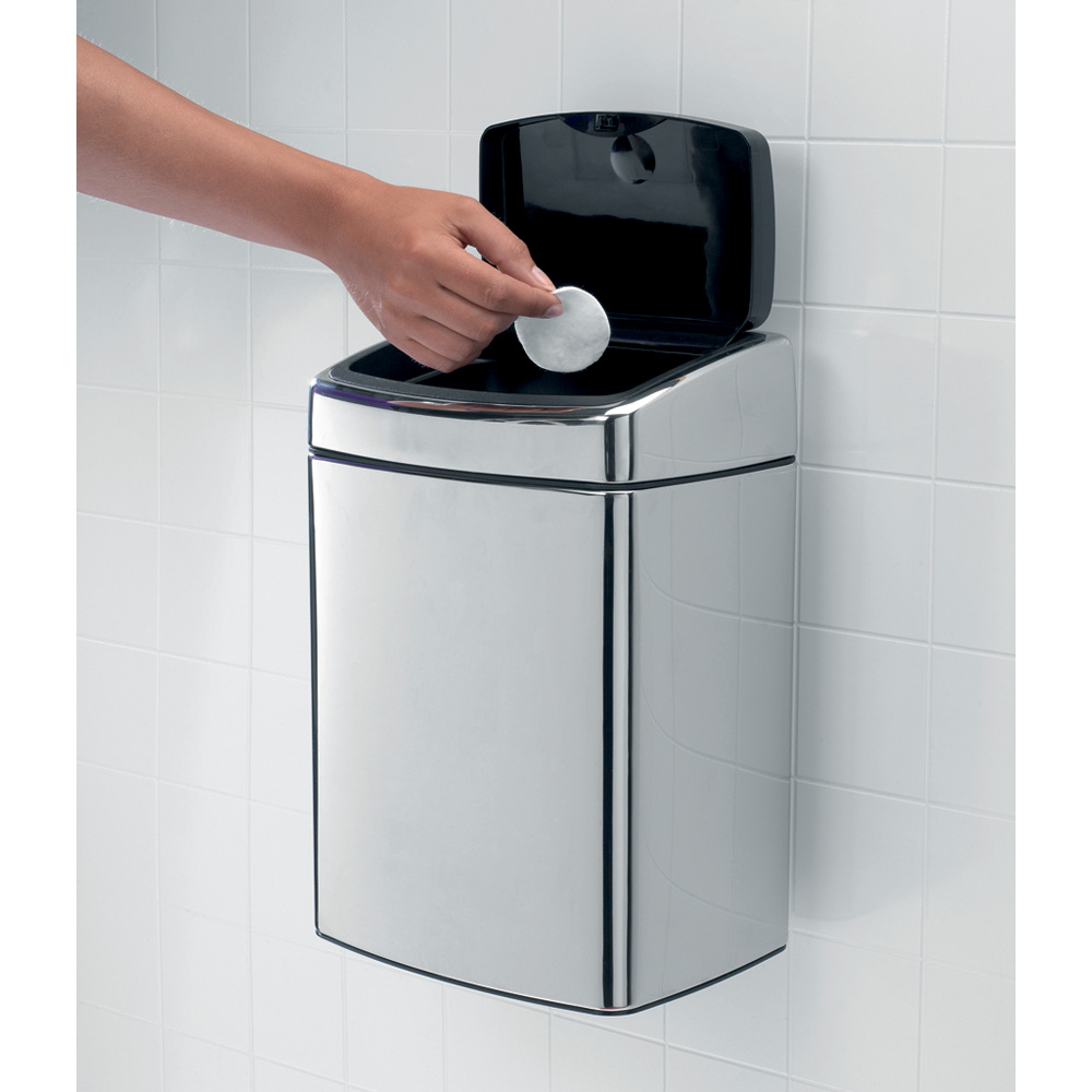 Кош за смет Brabantia Touch Bin 10L, Matt Steel Fingerprint Proof(8)