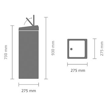 Кош за смет Brabantia Touch Bin 25L, Matt Steel Fingerprint Proof(14)