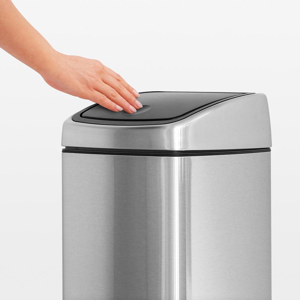 Кош за смет Brabantia Touch Bin 25L, Matt Steel Fingerprint Proof(6)