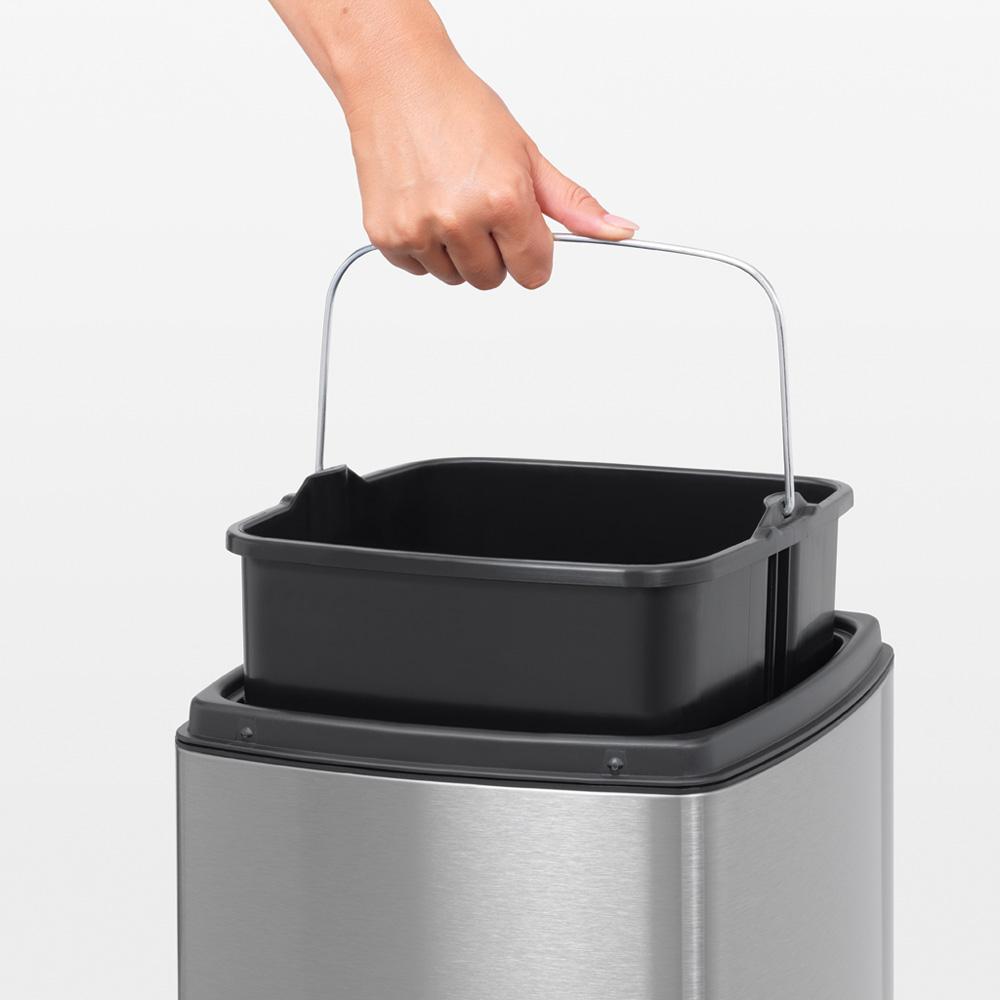 Кош за смет Brabantia Touch Bin 25L, Matt Steel Fingerprint Proof(9)