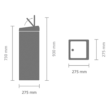 Кош за смет Brabantia Touch Bin 25L, Matt Black(10)