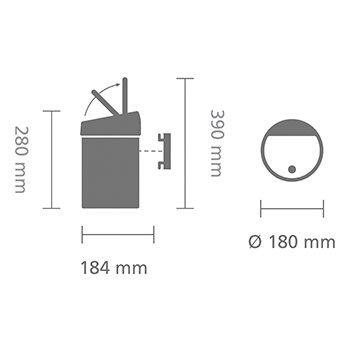 Кош за смет Brabantia Touch Bin 3L, Matt Steel(15)