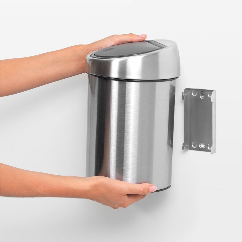 Кош за смет Brabantia Touch Bin 3L, Matt Steel(6)