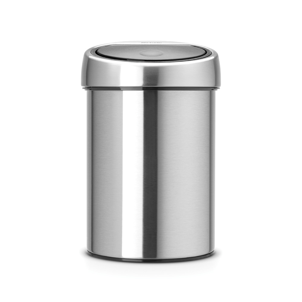 Кош за смет Brabantia Touch Bin 3L, Matt Steel Fingerprint Proof