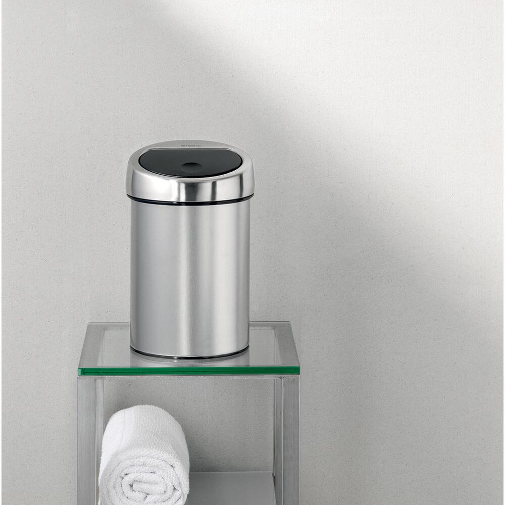 Кош за смет Brabantia Touch Bin 3L, Matt Steel Fingerprint Proof(14)