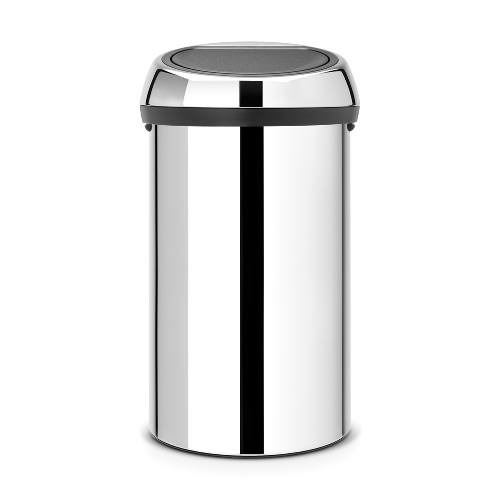Кош за смет Brabantia Touch Bin 60L, Brilliant Steel