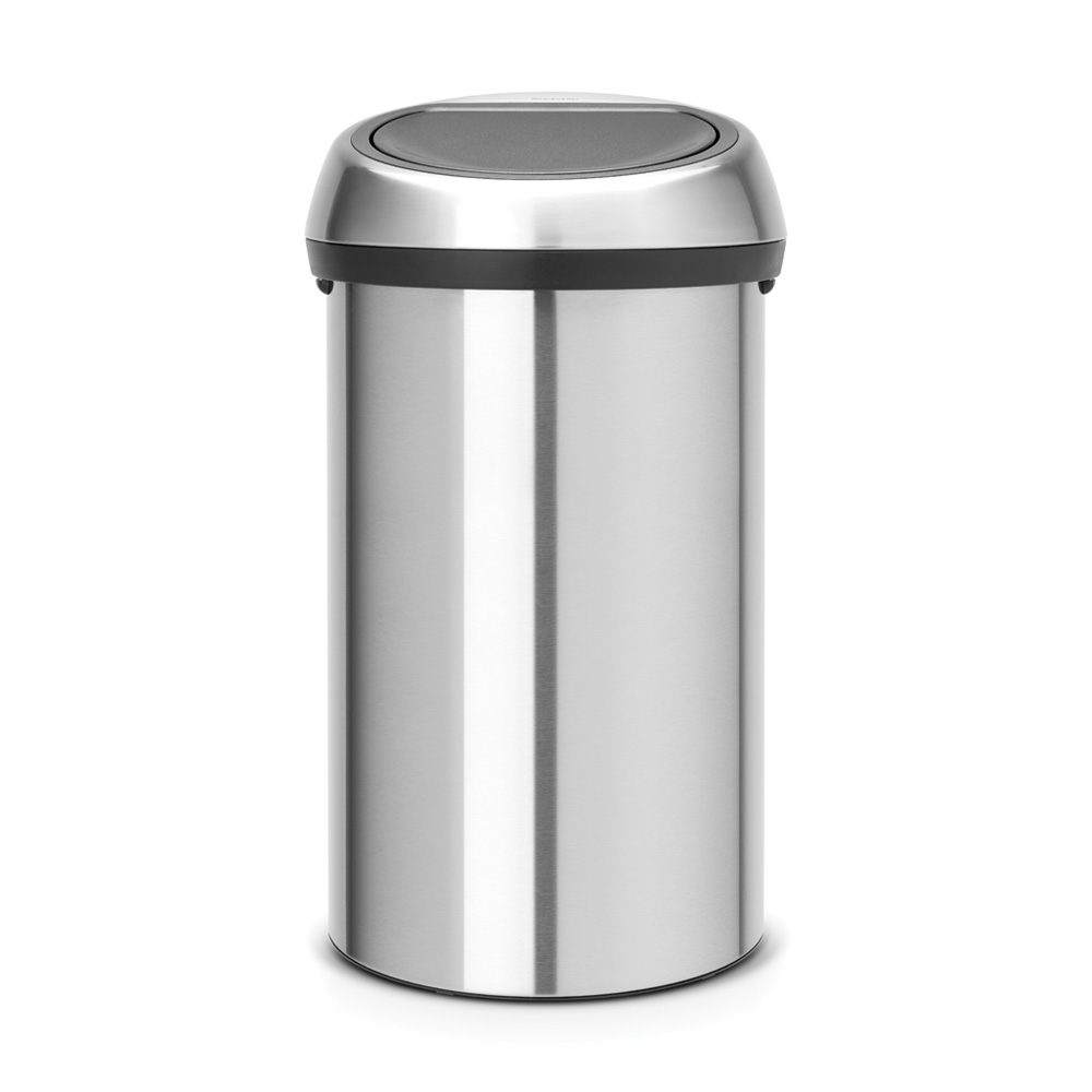 Кош за смет Brabantia Touch Bin 60L, Matt Steel Fingerprint Proof