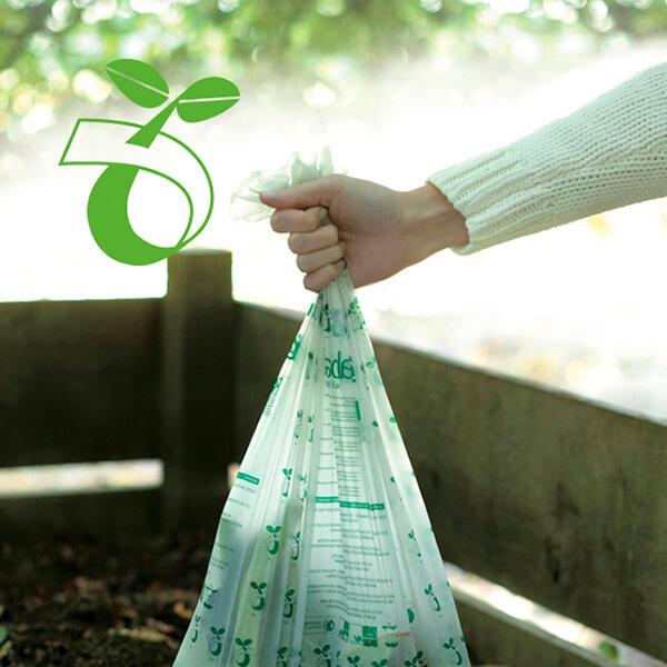 Торба за кош Brabantia размер S (Sort&Go), 6L, 10 броя, зелени, биоразградими(3)