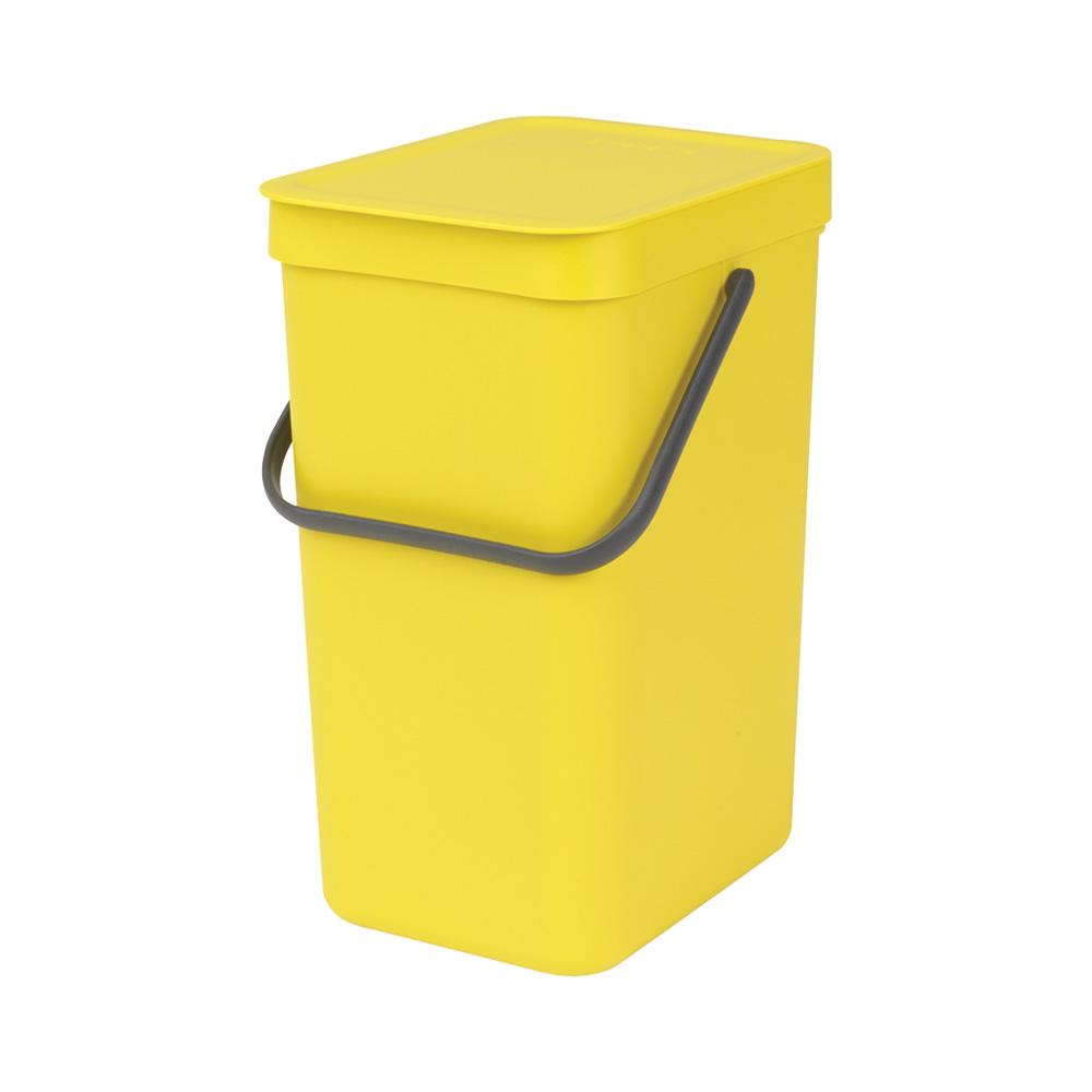 Кош за смет за разделно събиране Brabantia Sort&Go 12L, Yellow