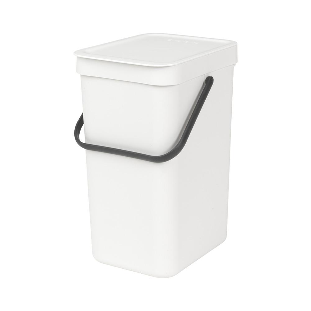 Кош за смет за разделно събиране Brabantia Sort&Go 12L, White