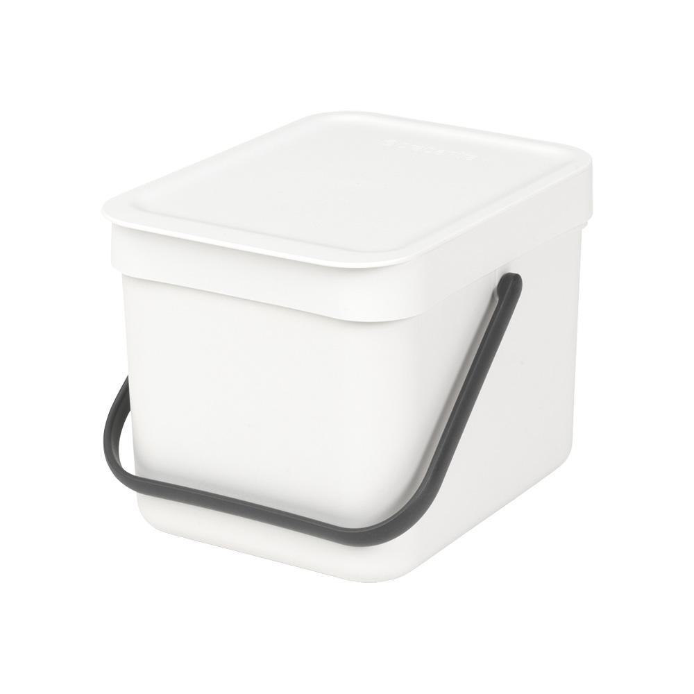 Кош за смет за разделно събиране Brabantia Sort&Go 6L, White