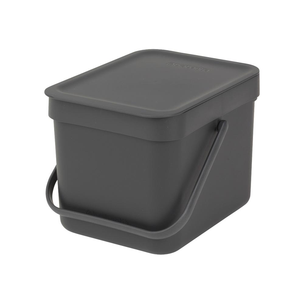 Кош за смет за разделно събиране Brabantia Sort&Go 6L, Dark Grey