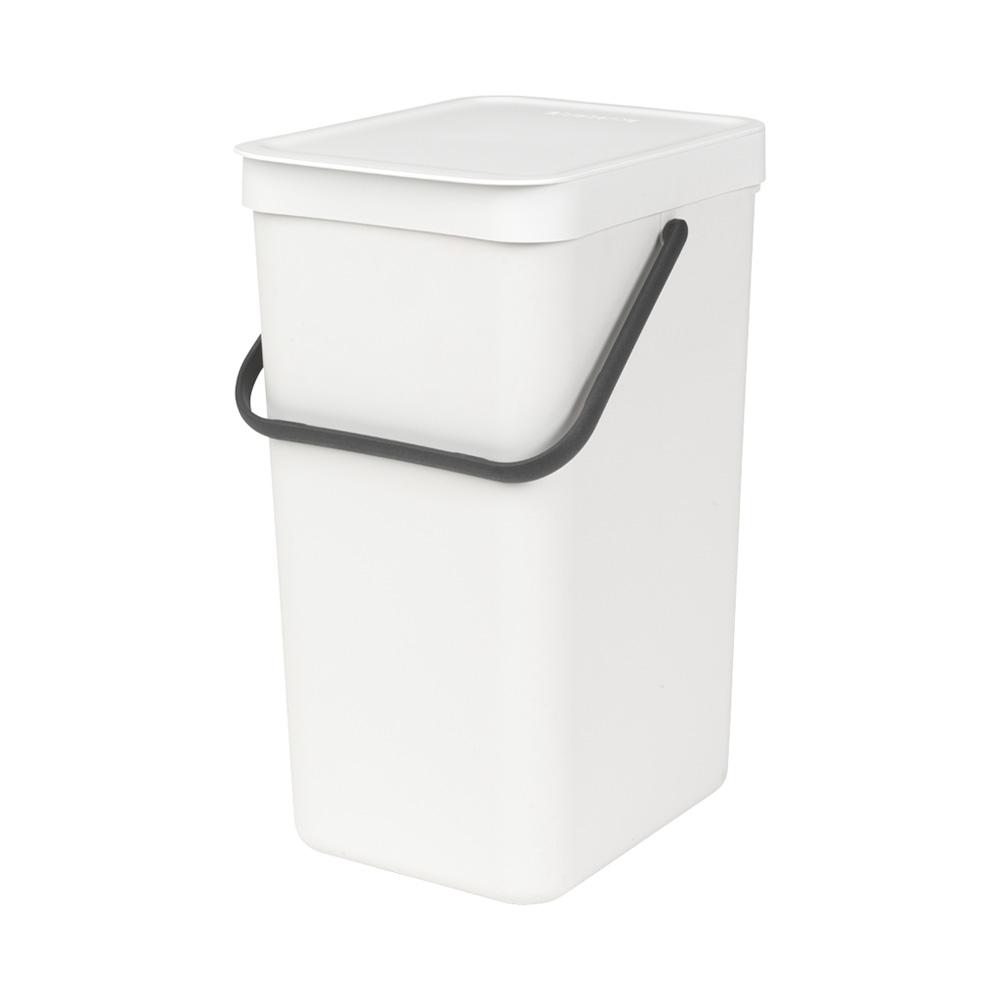 Кош за смет за разделно събиране Brabantia Sort&Go 16L, White