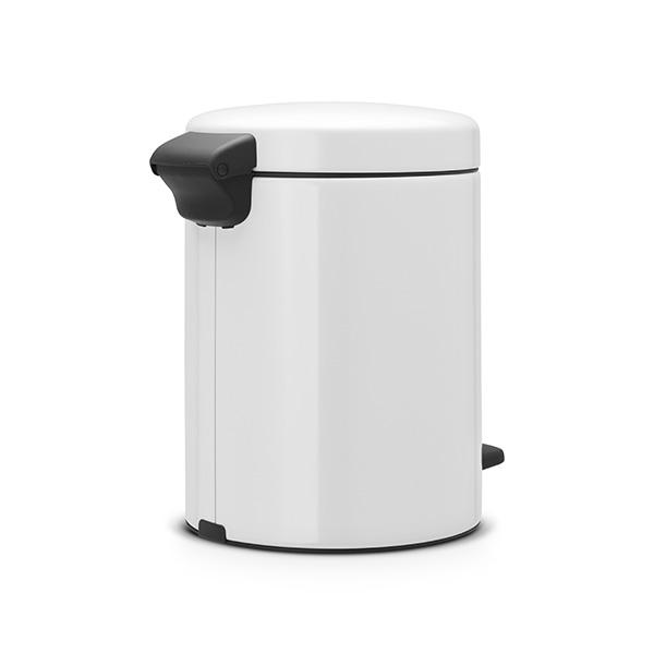 Кош за смет с педал Brabantia NewIcon 5L, White, метална кофа(3)