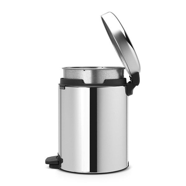 Кош за смет с педал Brabantia NewIcon 5L, Brilliant Steel, метална кофа(3)