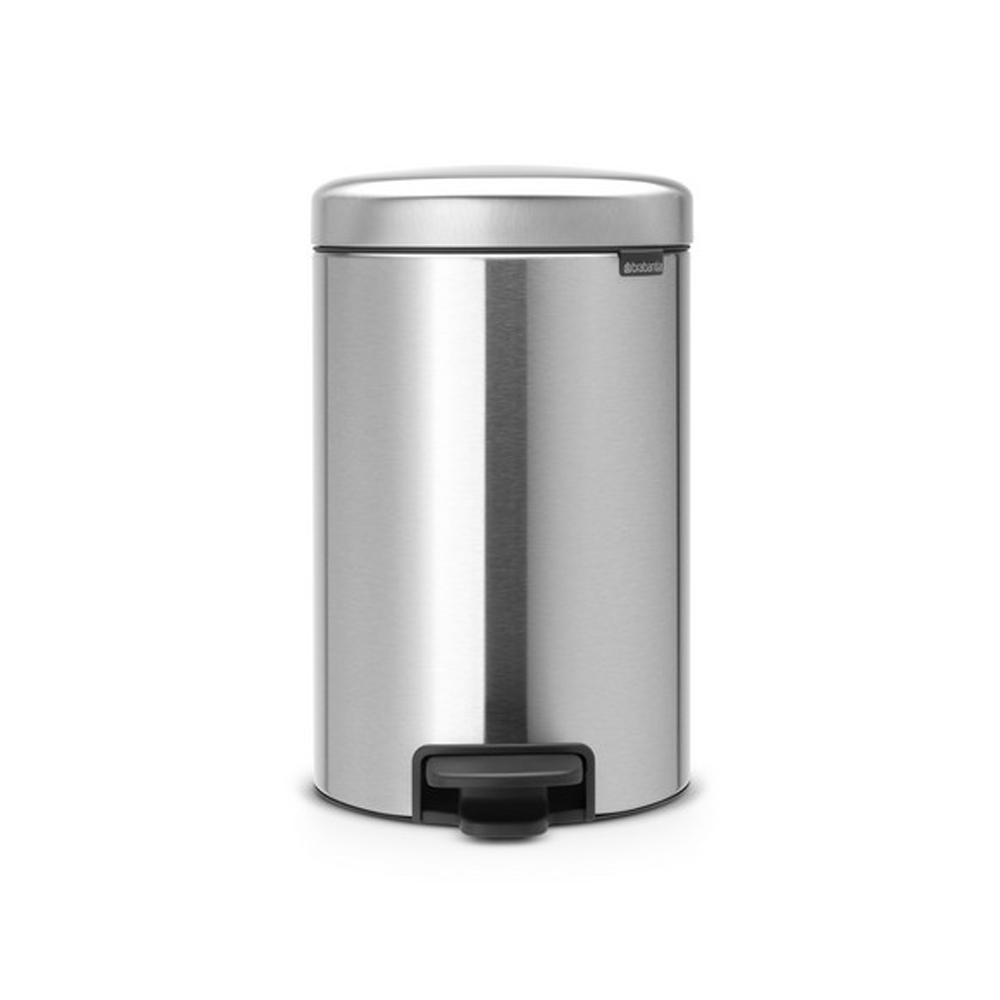 Кош за смет с педал Brabantia NewIcon 12L, Matt Steel Fingerprint Proof