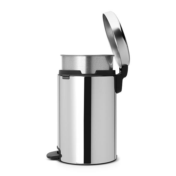 Кош за смет с педал Brabantia NewIcon 12L, Brilliant Steel, метална кофа(3)
