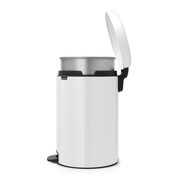 Кош за смет с педал Brabantia NewIcon 20L, White, метална кофа(3)