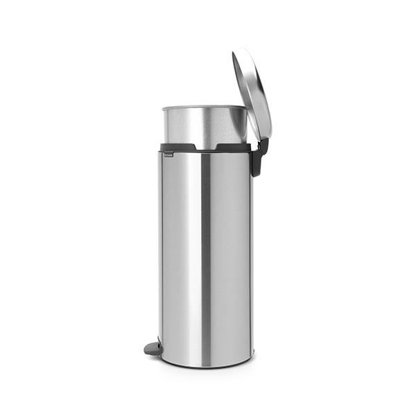 Кош за смет с педал Brabantia NewIcon 30L, Matt Steel, метална кофа(3)