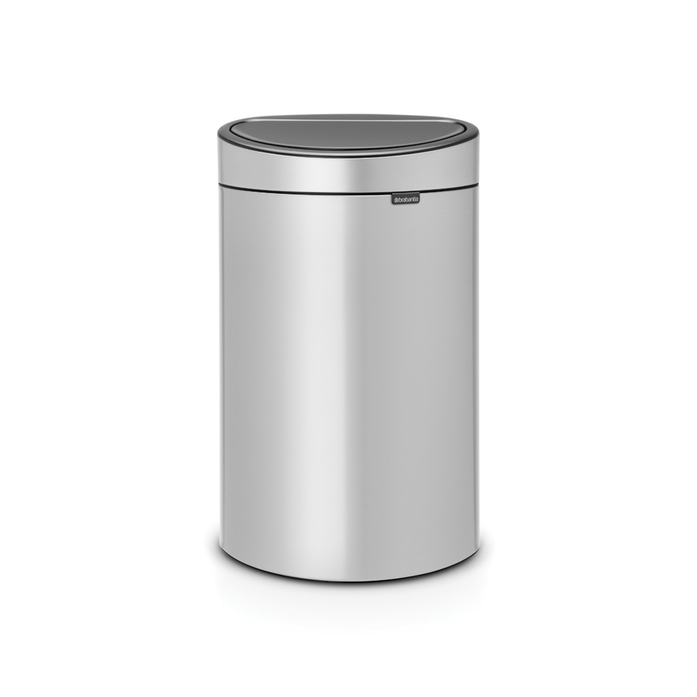 Кош за смет Brabantia Touch Bin New 40L, Metallic Grey
