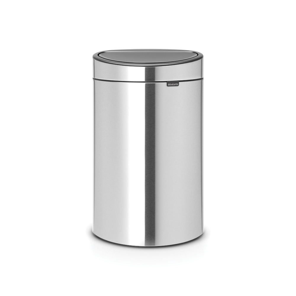 Кош за смет Brabantia Touch Bin New 40L, Matt Steel Fingerprint Proof
