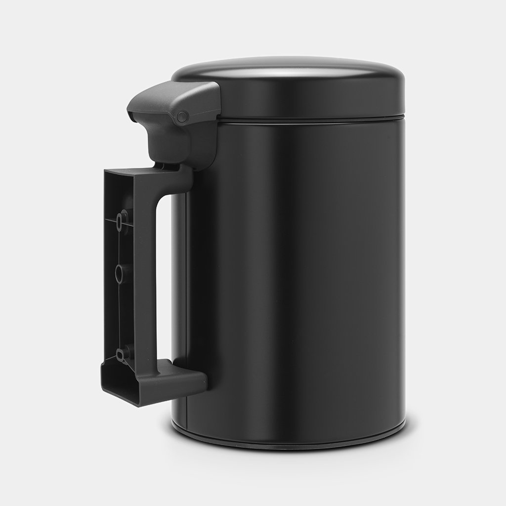Кош за смет Brabantia NewIcon 3L, Metal Black, стенен монтаж(2)