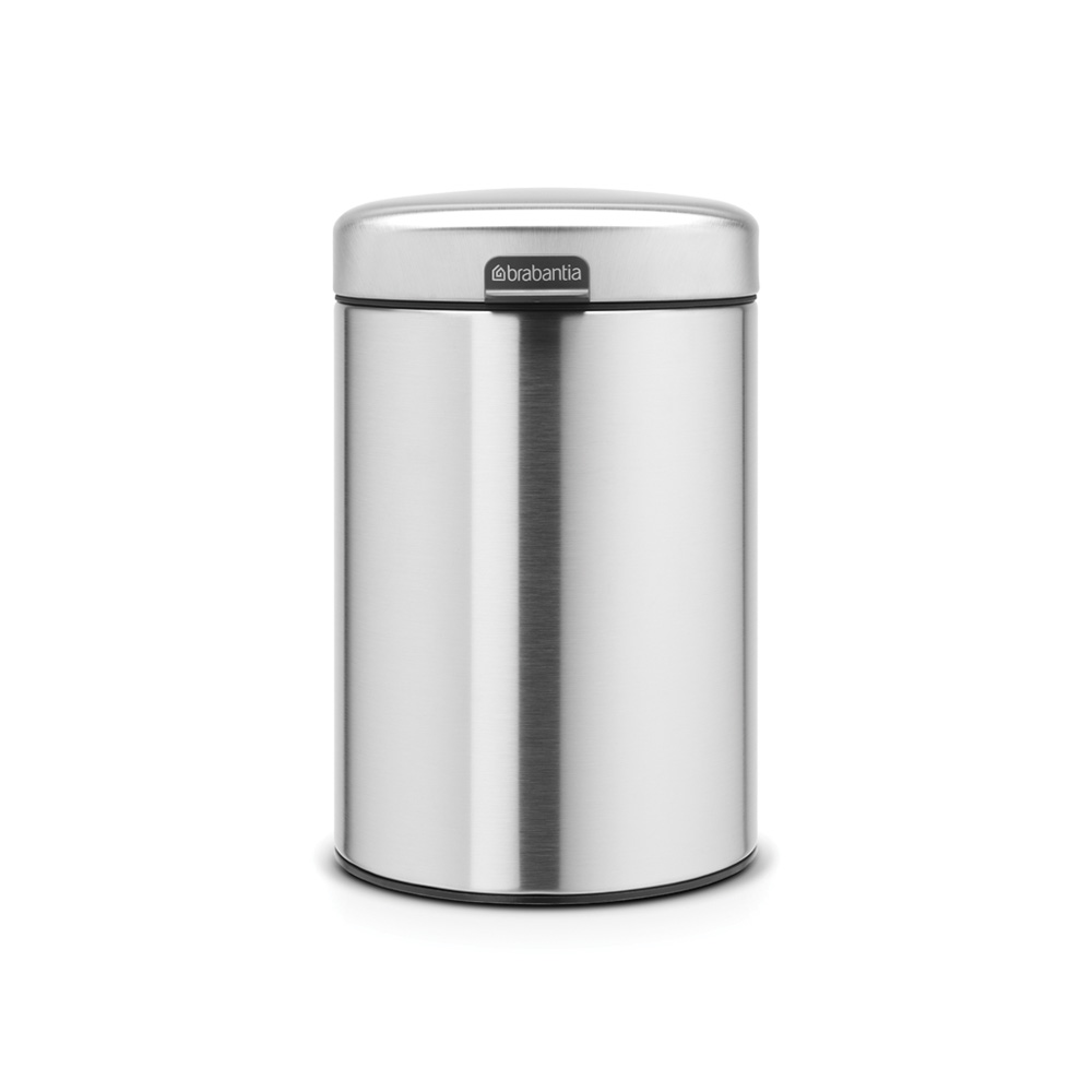 Кош за смет Brabantia Newicon 3L, Matt Steel Fingerprint Proof, стенен монтаж