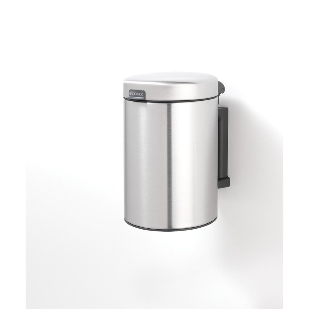 Кош за смет Brabantia Newicon 3L, Matt Steel Fingerprint Proof, стенен монтаж(4)