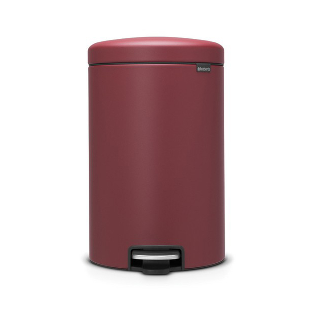 Кош за смет с педал Brabantia NewIcon 20L, Mineral Windsor Red