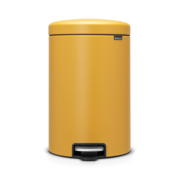 Кош за смет с педал Brabantia NewIcon 20L, Mineral Mustard Yellow