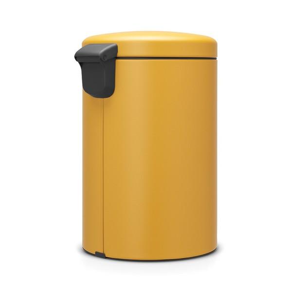 Кош за смет с педал Brabantia NewIcon 20L, Mineral Mustard Yellow(2)