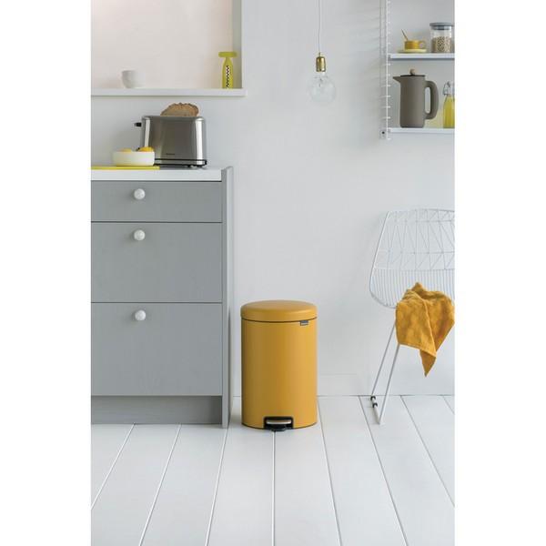 Кош за смет с педал Brabantia NewIcon 20L, Mineral Mustard Yellow(3)