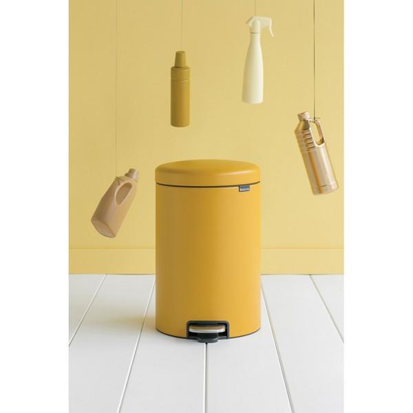 Кош за смет с педал Brabantia NewIcon 20L, Mineral Mustard Yellow(4)
