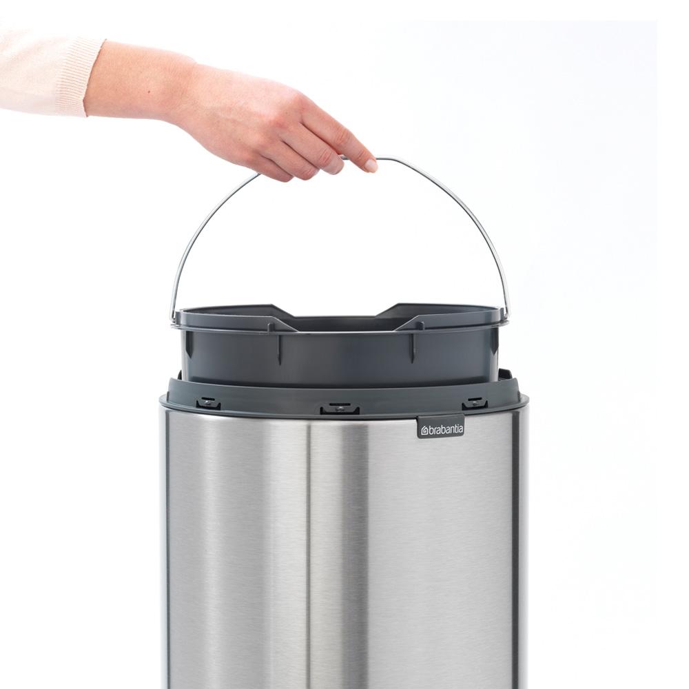 Кош за смет Brabantia Touch Bin New 30L, Metallic Grey(8)