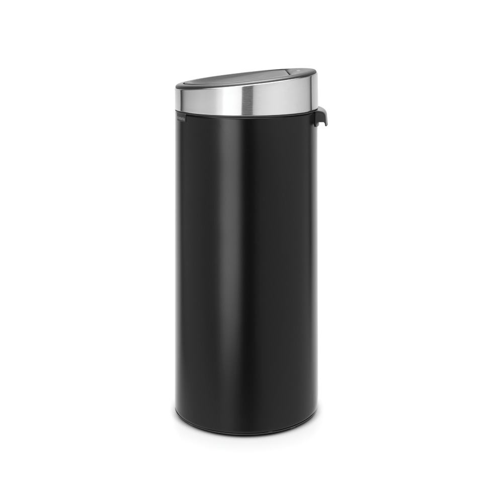 Кош за смет Brabantia Touch Bin New 30L, Matt Black, капак металик(1)