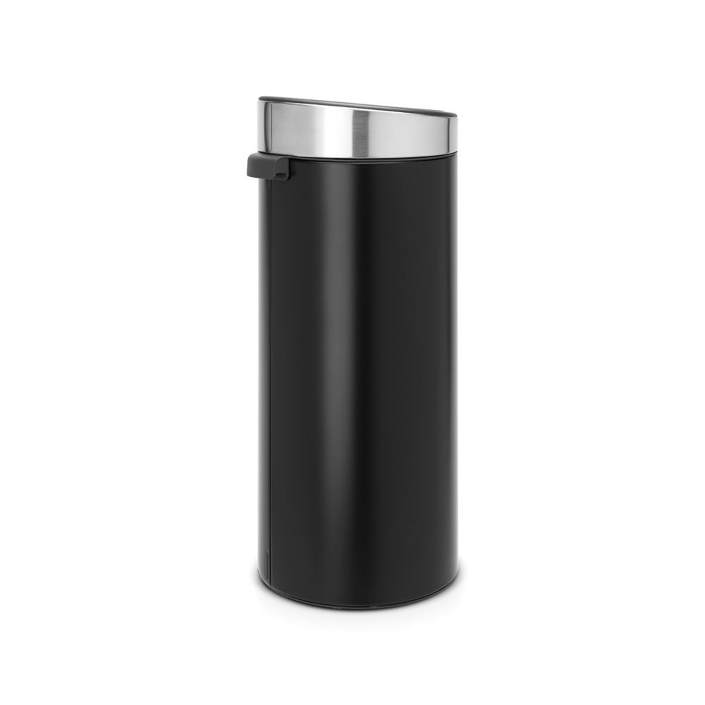 Кош за смет Brabantia Touch Bin New 30L, Matt Black, капак металик(2)