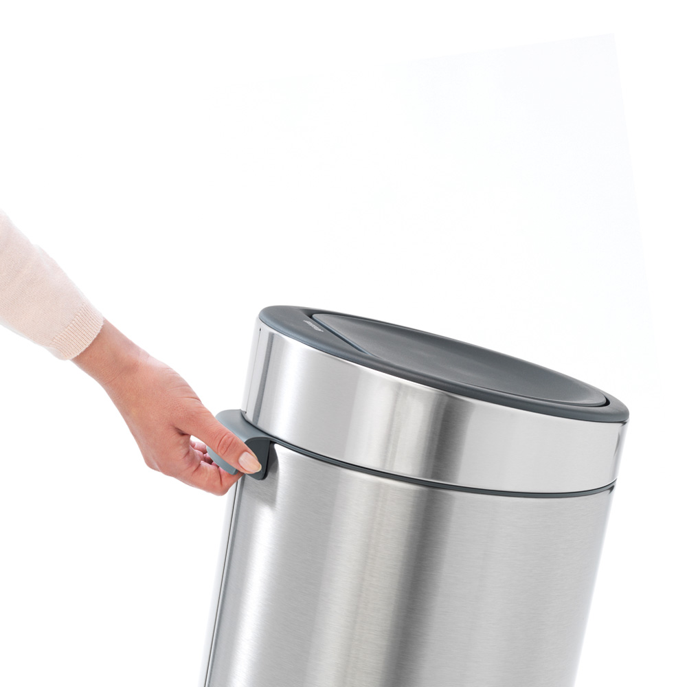 Кош за смет Brabantia Touch Bin New 30L, Matt Steel(7)