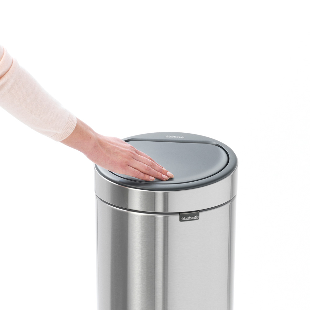 Кош за смет Brabantia Touch Bin New 30L, Matt Steel(8)