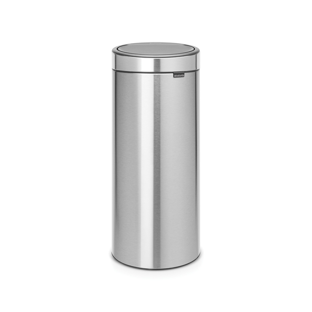 Кош за смет Brabantia Touch Bin New 30L, Matt Steel Fingerprint Proof